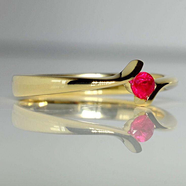 Inel din aur cu rubin II Cod produs: i060Rb