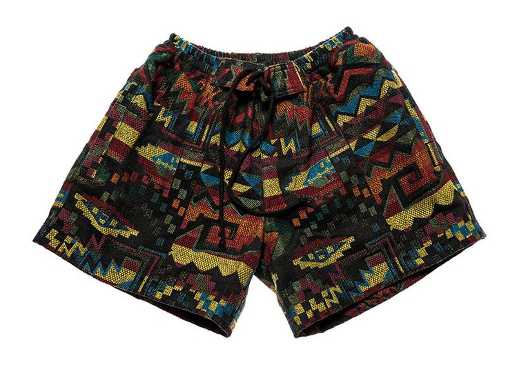 Women bohemian shorts in beautiful inca / graphic multi color design by Aviimade on Etsy