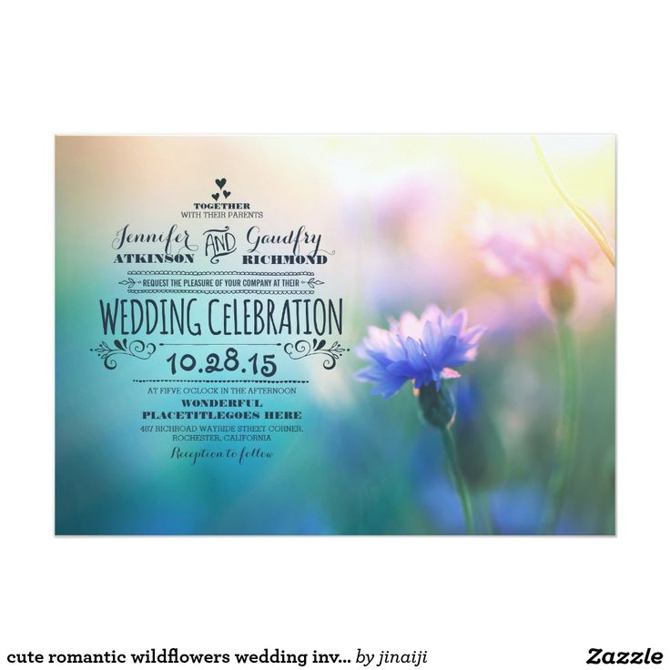 cute romantic wildflowers wedding invitations 280 best