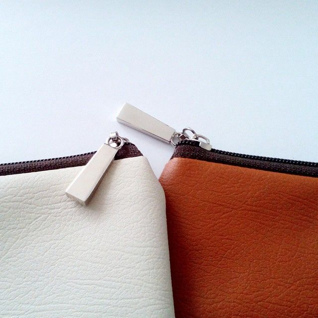 New Ready - Brown Gwen's Pouch - Brown Soft Pearl Pouch