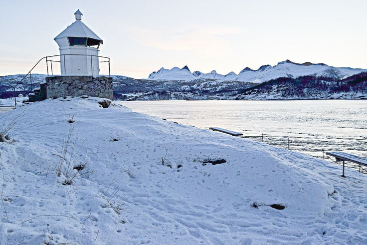 The lighthouse next to Saltstraumen in Norway