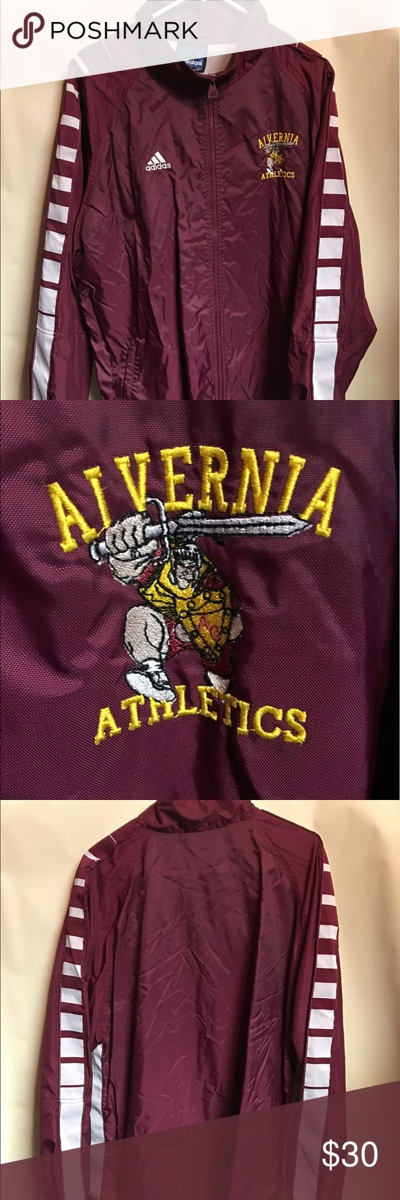 Vintage Adidas Alvernia Atletics Team Windbreaker Gently worn Adidas Alvernia University Athletic Soccer Trackjacket. This is a Men's Large.it is in great condition. Vintage Jackets & Coats Windbreakers
