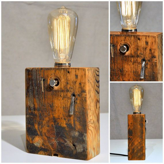 EDISON WOOD LAMP by StephaneHubertDesign on Etsy, $350.00