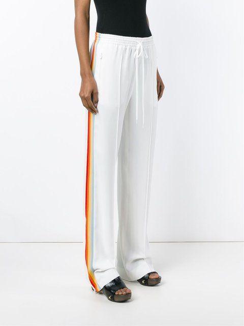 d818419b112 Chloé rainbow stripe  Cady  track pants - white Side Stripe Trousers