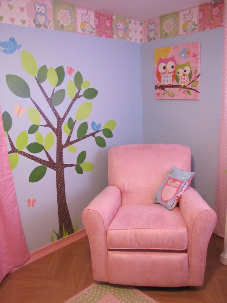 Cute chair, but I think we're going with a blue and purple rather than pink for the main nursery colors