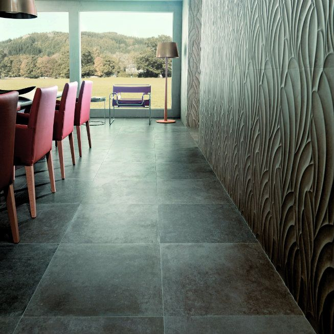 Venis Rhin Taupe (floor tile), Venis Suede Taupe (feature wall) | Jacobsen NZ
