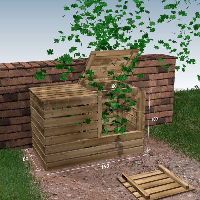 Les 25 meilleures id es de la cat gorie fabriquer un - Fabriquer cache poubelle bois ...