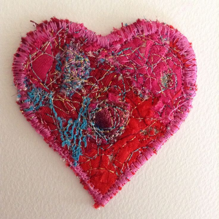 Another confetti heart & machine embroidery.