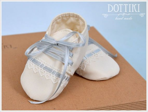 Baby Boy Christening Shoes Silk or Cotton Booties Baby Gift
