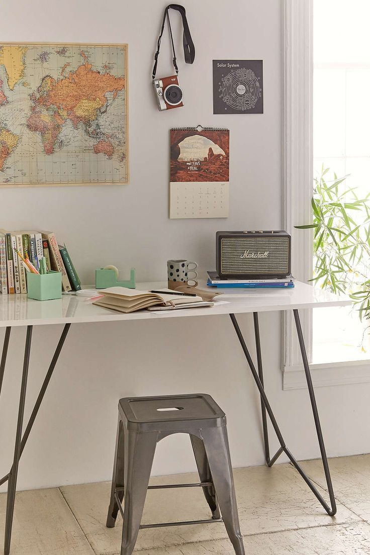 Office/Guest Room desk but with Eames chair & beautycrush decor set up