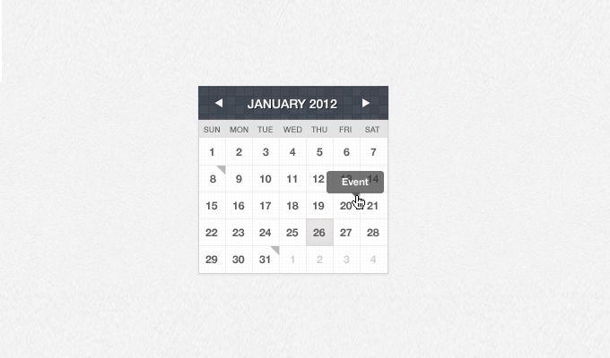 Free 7 free calendar design interface PSD Elements UI kit - http://www.vectorarea.com/free-7-free-calendar-design-interface-psd-elements-ui-kit