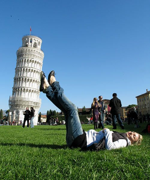hold up the leaning tower of Pisa