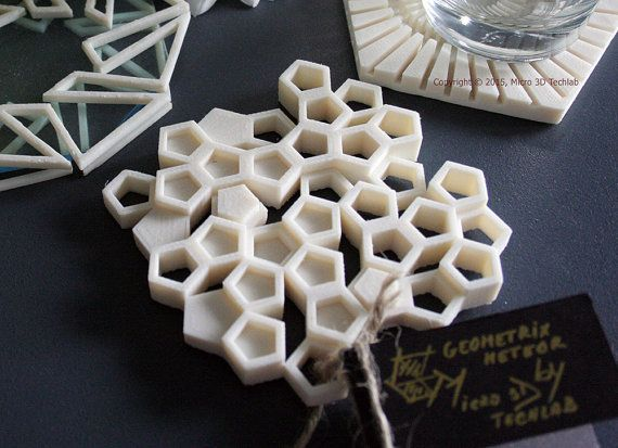 These Elegant 3D Printed Coasters Inspired by Nature are Works of Art http://3dprint.com/62529/3d-printed-coasters/