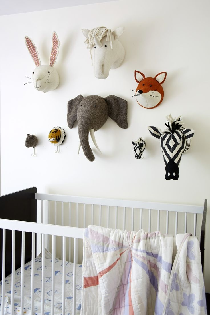 [INSPIRATIONS] Turn your kid's bedroom into a fantasy menagerie ! Decoration, funny cuddly toys, furniture... A M.O.M selection they will definitely love. FIONA WALKER ENGLAND - Classic Animal Heads by Fiona Walker England Ltd #MOMinspiration #MOMplatform