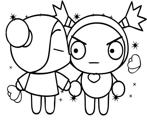 Pucca and garu coloring pages | Verjaardag, Verjaardag ...