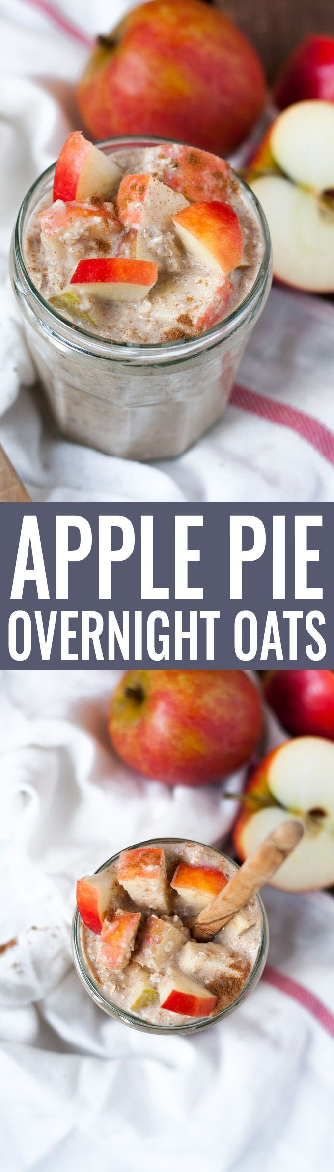 Apple Pie Overnight Oats (Low Carb Dessert Recipes)
