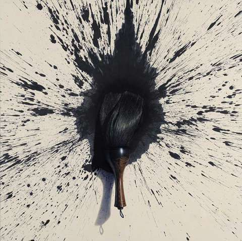 Lee Jung Woong: Brush, Oil on Korean Paper. Contemporary Asian artist, represented by Ode to Art