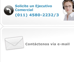 Solicite un ejecutivo comercial al (011) 4580-2232/3