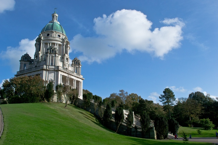 The Ashton Memorial, Lancaster. Built between 1907 and 1909 by millionaire industrialist Baron Ashton in memory of his second wife, Jessy, at a cost of £80,000.