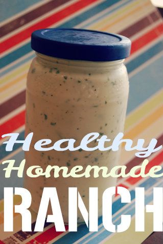 Healthy Homemade Ranch Dressing!  I just made this and it tastes amazing.  Just note that the recipe calls for 1 cup (8 oz) of Greek yogurt and most containers are 5 oz or so--great way to cut the fat from the dressing!  Dianne