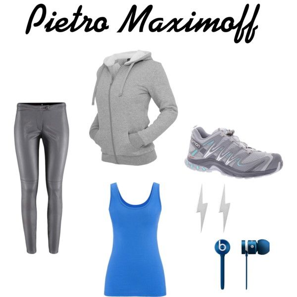 Pietro Maximoff inspired outfit  by wolfie112-99 on Polyvore featuring polyvore fashion style maurices Salomon Edge Only Beats by Dr. Dre