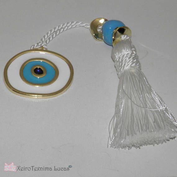 White Eye Metal Charm Gift Wrap