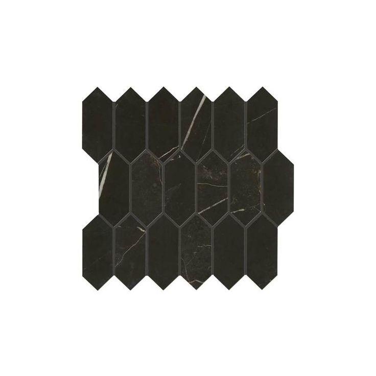 Daltile Ma825hexmsmtp Sample Marble Attache 5 X 2 Linear Hexagon Mosaic Tile Nero Flooring Sample Tile In 2020 Mosaic Wall Hexagon Mosaic Tile Mosaic Wall Tiles