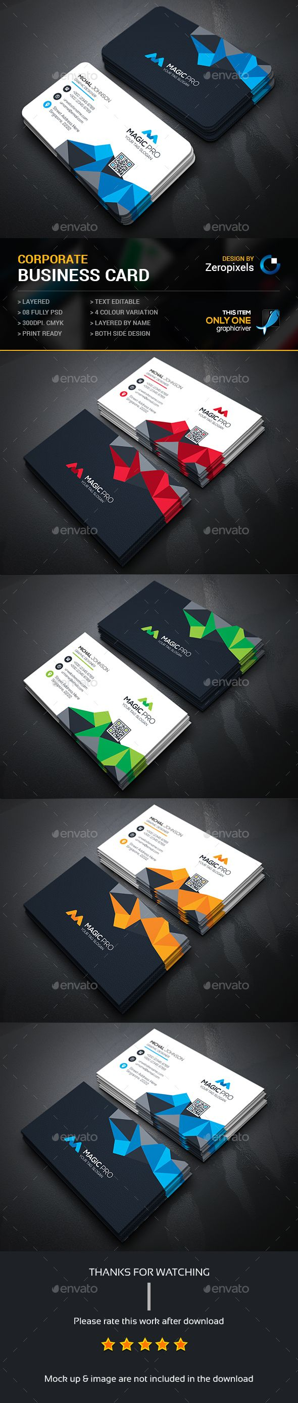 160 best business cards images on pinterest business card design buy abstract business card by zeropixels on graphicriver features easy customizable and editable business card in with bleed cmyk color design in 300 dpi reheart Image collections