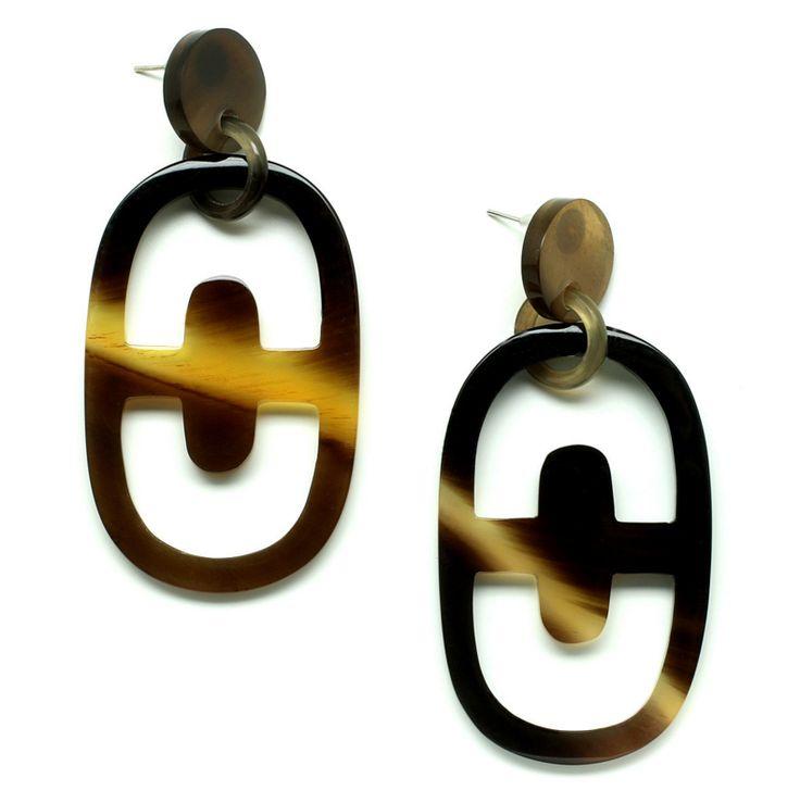 Gorgeous earrings handmade of buffalohorn. Watch our Buffalohorn jewelry collection now!