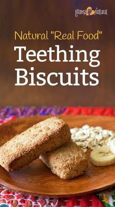 Store bought teething biscuits are filled with junk - corn syrup, soybean oil (!), etc. Here's an all natural teething biscuits recipe that kids love. http://www.mamanatural.com/how-to-make-healthy-teething-biscuits/