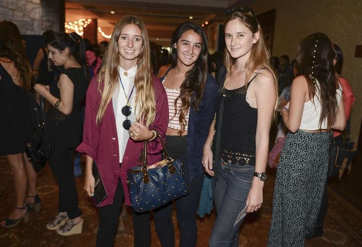 Candelaria Dominguez, Taira Sedini y Victoria Briones
