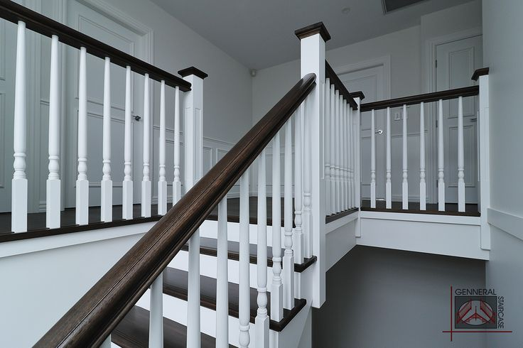 Hampton style stair | Made by Genneral Staircase  Treads and Handrails of Victorian Ash.