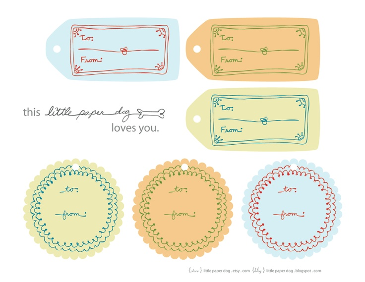 printable gift tags | Gift Ideas | Pinterest