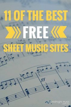 11 of the best free sheet music sites for music teachers   Midnight Music Technology Training