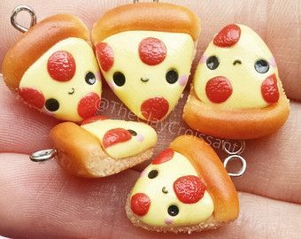 Make one special photo charms for you, 100% compatible with your Pandora bracelets.  Kawaii Potsticker Earrings Polymer Clay Charm by TheClayCroissant