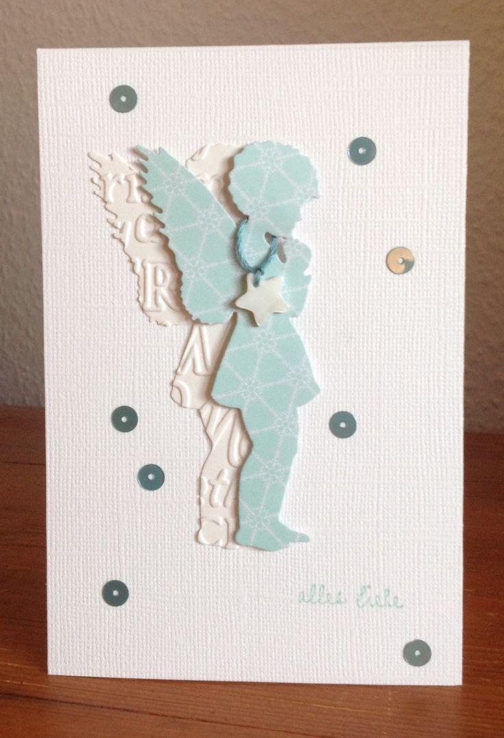 Weihnachtskarten mit engel stanze alexandra renke a renke pinterest cards angel cards - Pinterest weihnachtskarten ...