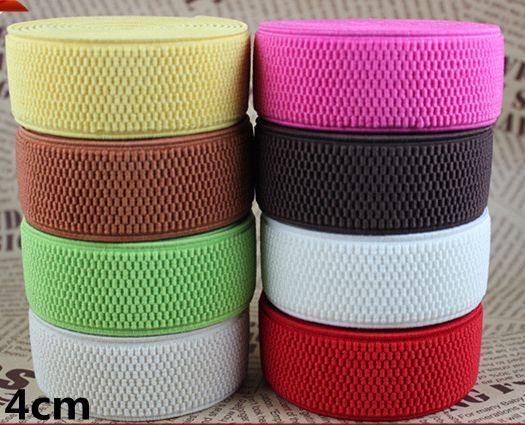 ワイド4センチカラーコーンシース弾性ゴムバンド弾性バインディング袋」縫製布バイアス結束テープ