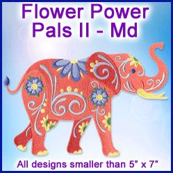 A Flower Power Pals II Design Pack - Md design (X11873) from www.Emblibrary.com