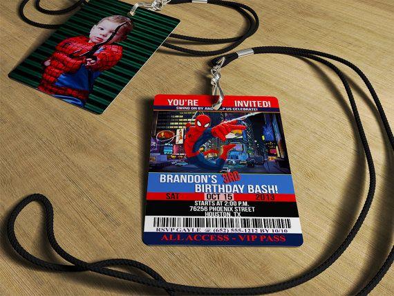 Spiderman Invitations Birthday Vip By Uniquedesigninvites 2 50