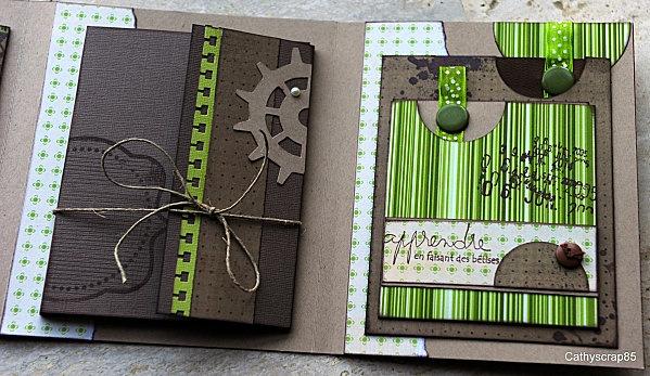 Superbe album vert & chocolat masculin de CATHYSCRAP85 : http://cathyscrap85.over-blog.com/article-dernier-article-pour-2010-63924721.html