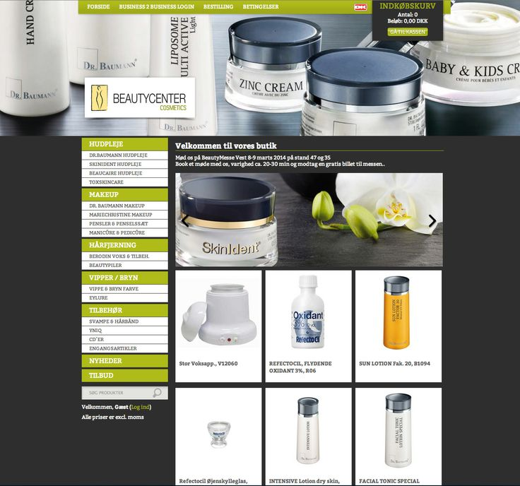 Nye reference på Webshop: http://shop.beautycentercosmetics.dk/ - læs mere om vores Webshop løsninger: http://www.medialine.dk/webshop.html