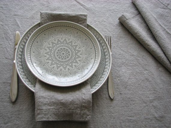 Linen Napkin Set of 10 classic table linen napkins by daiktuteka