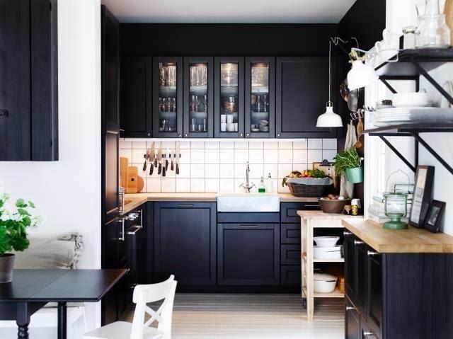 cocina ikea negra