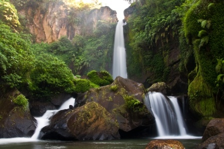 Coban Talun Waterfall. Located in Malang, East Java.