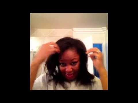 DIY Brazilian Keratin on Fine AA Natural Hair