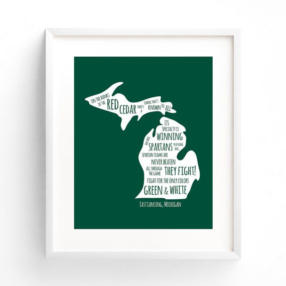 Michigan State University MSU Fight Song by DivisionDesigns