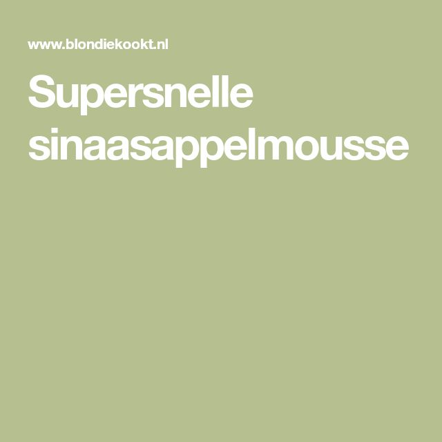 Supersnelle sinaasappelmousse