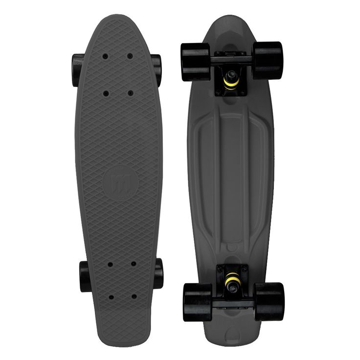 LED Wheels | Ships Free This durable Mayhem 22-in penny kids skateboard in black is quite unusual. Uses LED lights inside the wheels. Awesome for cruising around campus or tricks in the skate park. Pe