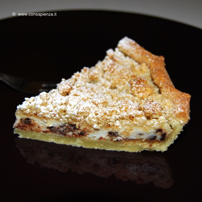 Torta sbriciolata ricotta e cioccolato - conSapienza Chef a domicilioFederica Sapienza Chef a domicilio