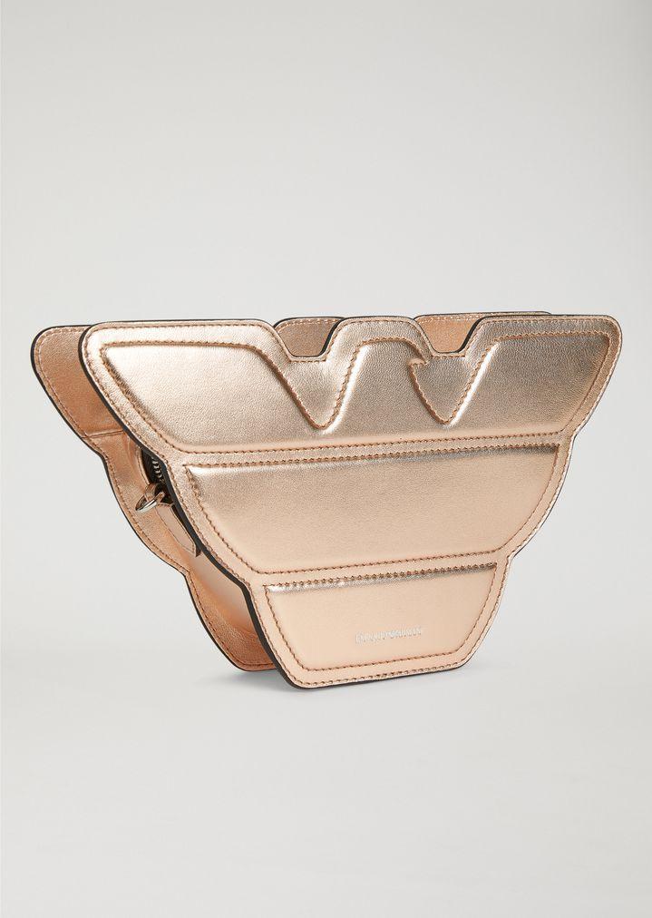 b68925b2d0b2 EMPORIO ARMANI Eagle-shaped shoulder bag in leather Shoulder Bag Woman d